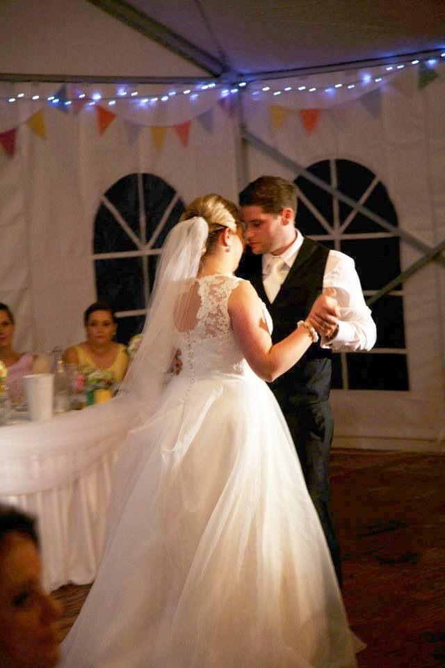 Bridal dance Bunting Fairy lights Wedding Best day Love