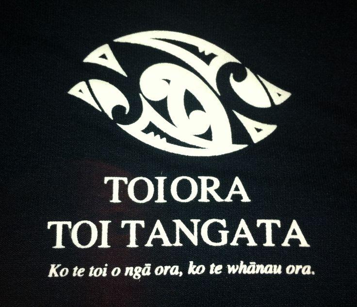 Toiora Toi Tangata Hoodies - Close up of logo
