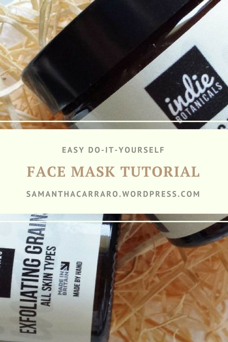 Easy face mask tutorial for skin imperfections, exfoliating and making your skin smoother and beautiful on https://samanthacarraro.wordpress.com/2016/03/24/indie-botanicals-goodies-review/ #makeup #skin #facemask #tutorial #diy #beauty #mua #selfcare