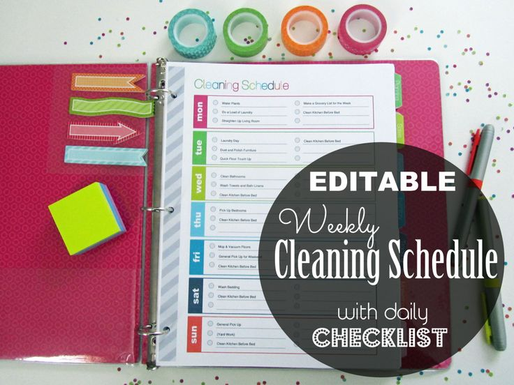 1000 Ideas About Cleaning Schedule Printable On Pinterest