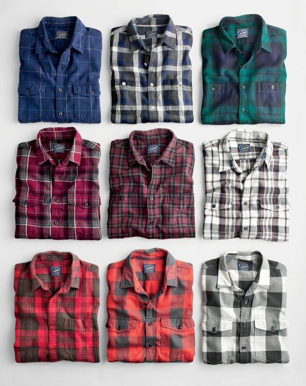 J.Crew men's flannel shirts. Some men's clothing looks great on women. These shirts might look good on my brother.