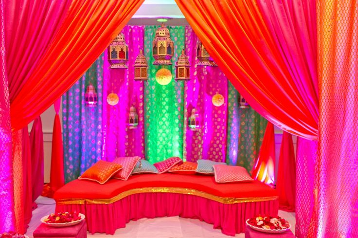 Amazing decor for the mehndi ceremony for Mehndi decoration