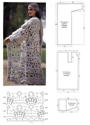 Inspirações Fios de Sol / Coisas d' Aldeia: Casaco comprido