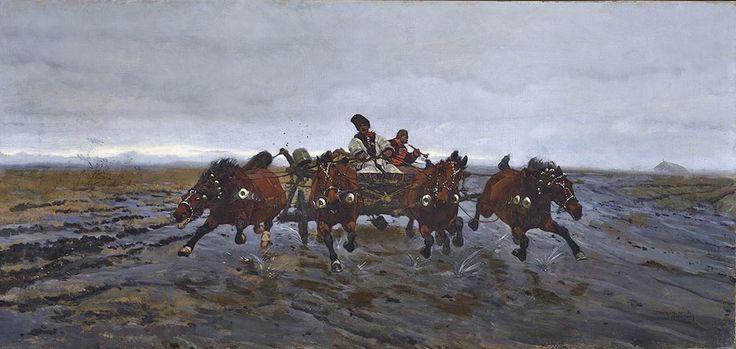 Józef Chełmoński Studium przygotowcze do obrazu <em>Czwórka</em> | 1881 rok, <br />  Muzeum Narodowe w Warszawie