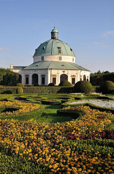 Early-Baroque Flower Garden (Pleasure Garden, Kvetna zahrada or Libosad) with Octagonal Rotunda in Kromeriz, Czech Republic | Petr Svarc Images