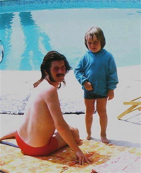 John Bonham of Led Zeppelin with his son Jason