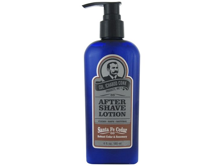 Colonel Conk Santa Fe Cedar Aftershave. Adopt the scent of traditional quality with robust cedar and rosemary notes that will soothe your skin after a shave. Available at House of Knives.