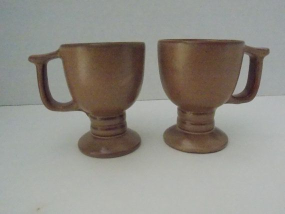 2 Frankoma C13 cups coffee cups or mug by DocsOddsandEnds on Etsy, $10.00