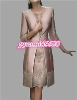 New Mother Of The Bride Dresses Free Jacket Wedding Formal Satin Gown/Outfit