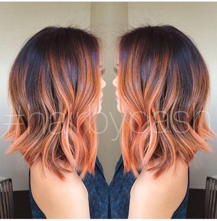 Red Balayage Highlights Hair Pinterest Highlights