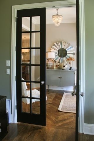 After Removing The Doors From My Kitchen Cabinets Nearly  Years Ago I Am Revisiting The Whole Issue From A New Perspective Black French Doors