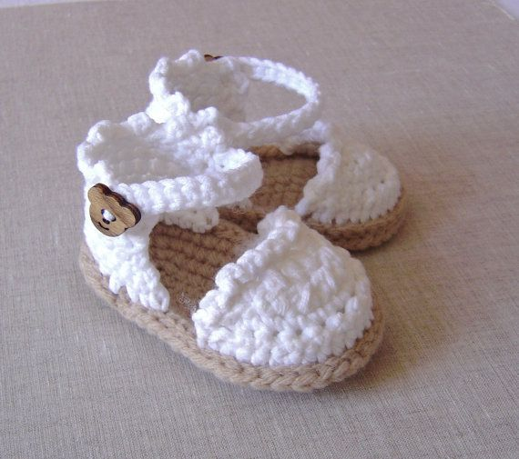CROCHET PATTERN Baby Espadrille Sandals Easy Photo ...