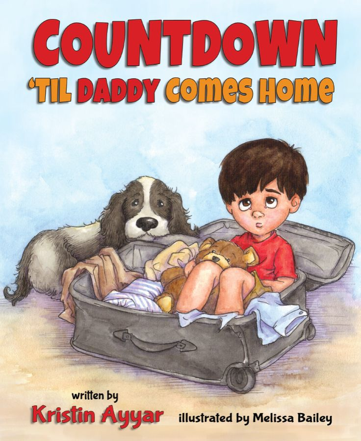 Countdown 'til daddy comes home - perfect little book to help with kids who have a parent who is deployed. #kids #deployment