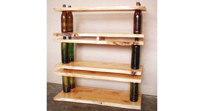 Créer des étagères design avec des matériaux de récup' : mode d'emploi // http://www.deco.fr/actualite-deco/299738-creer-etageres-design-materiaux-recup.html #recup #etagere