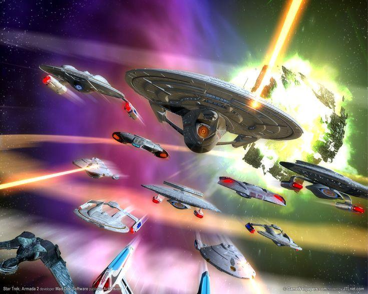 Desktop Wallpapers · Games    Star Trek - Armada II (PC), 2001