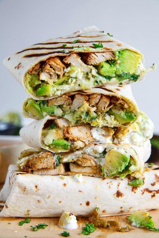 Chicken and Avocado Burritos #chicken #avocado #burritos