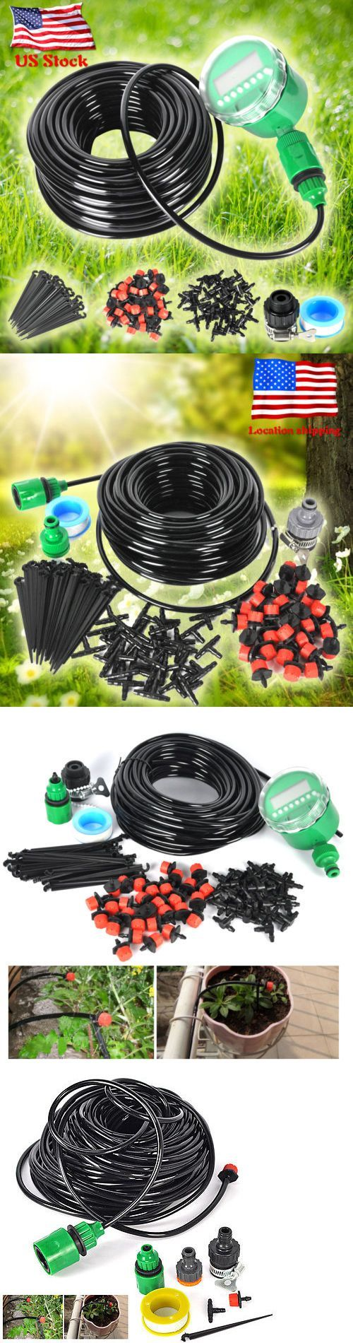 Lawn Sprinklers 20542: 25M Dripper Diy Plant Self Watering Garden Hose Micro Drip Irrigation System Kit -> BUY IT NOW ONLY: $38.29 on eBay!