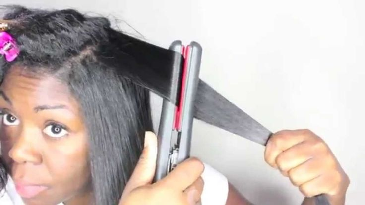 11 tips: How to get the BEST ** flat ironing ** results (relaxed or natu...