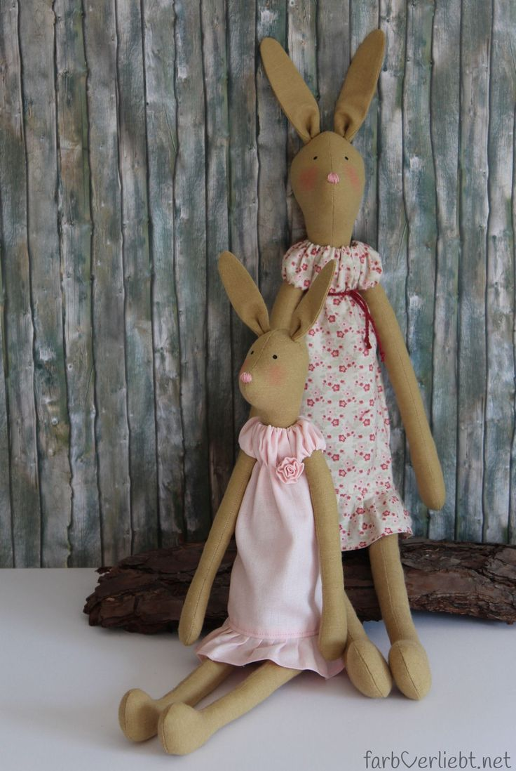 Tilda Hare Mother and Child made by farbverliebt