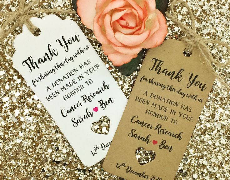 Personalised Charity Donation Gift Tag Wedding Favour Guest Label  in Home, Furniture & DIY, Celebrations & Occasions, Other Celebrations & Occasions   eBay