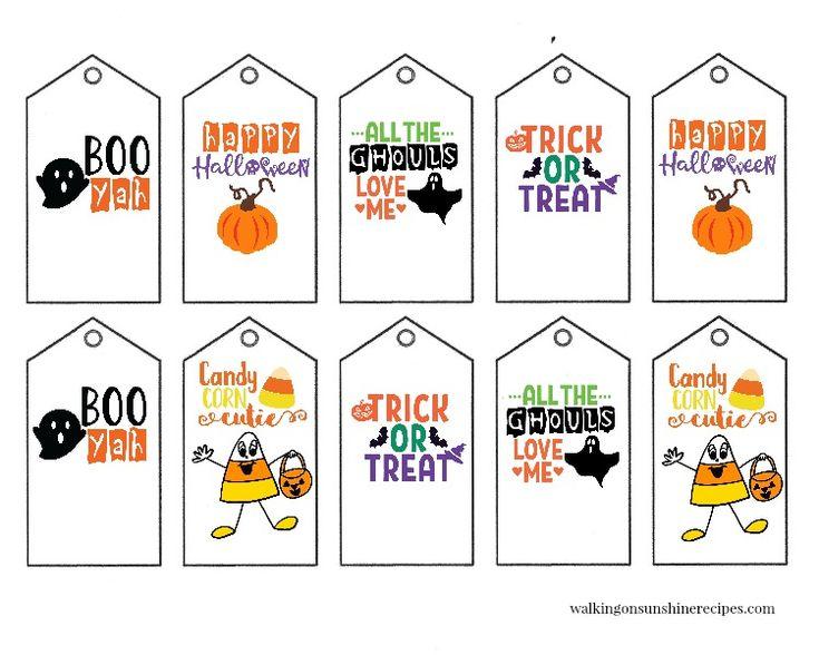 Printable Halloween Gift Tags | Printable halloween tags ...