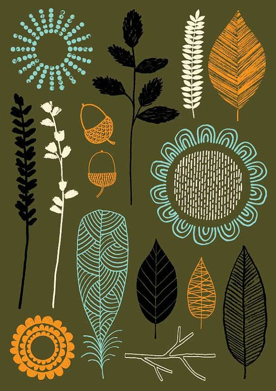 Nature Trail No3 is a new print for 2013, and is based around my drawings of…