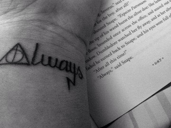 Harry Potter tattoo<3  LOVE this! Pretty sure this is one of the ones I'm getting
