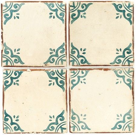 Hand-painted ceramic tiles, Walker Zanger.