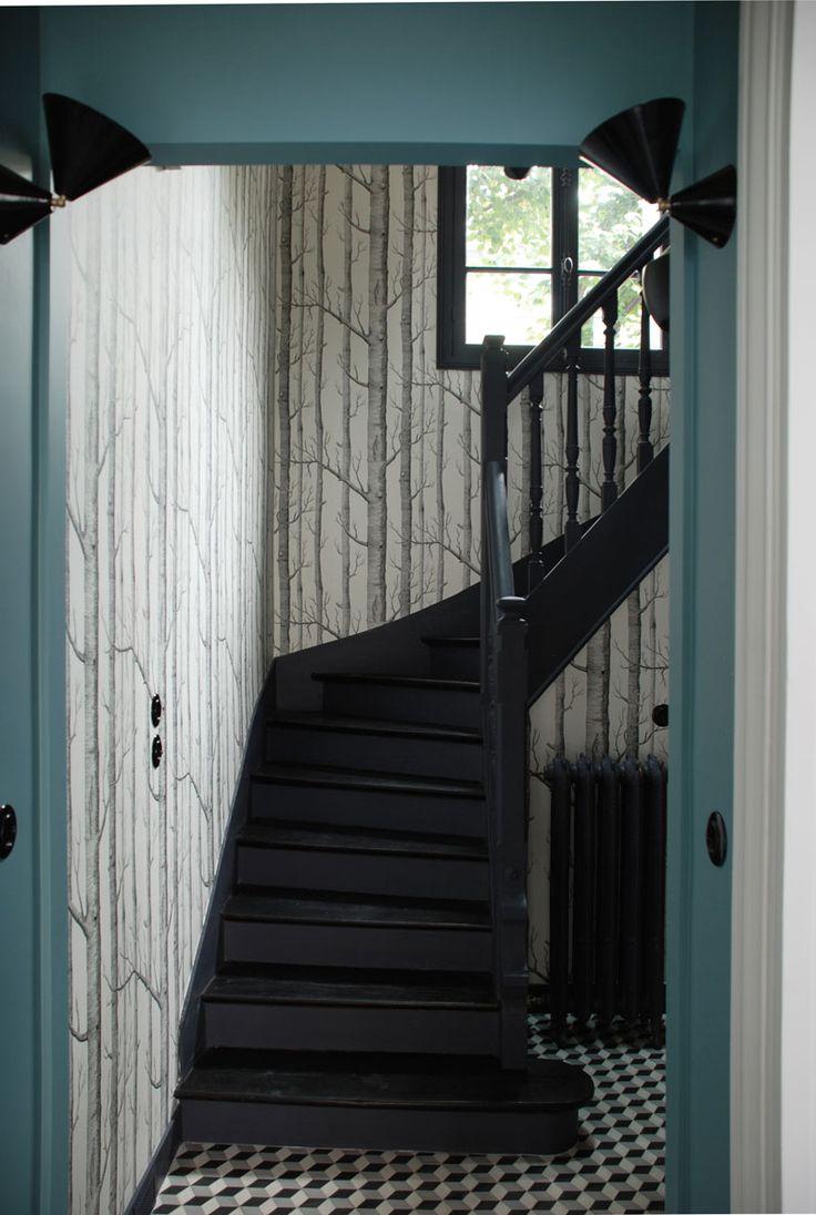 Les 25 meilleures id es de la cat gorie papier peint for Tapisserie originale couloir