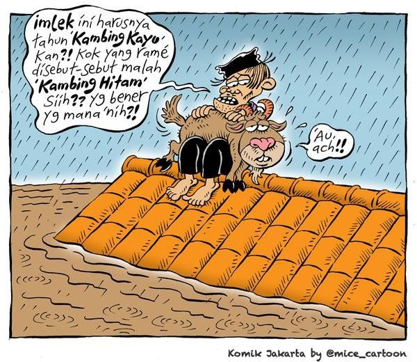 Mice Cartoon, Komik Jakarta - Jebruari 2015: Kambing Hitam