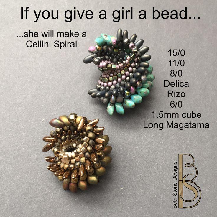 Beth Stone Designs. Seed bead stitching