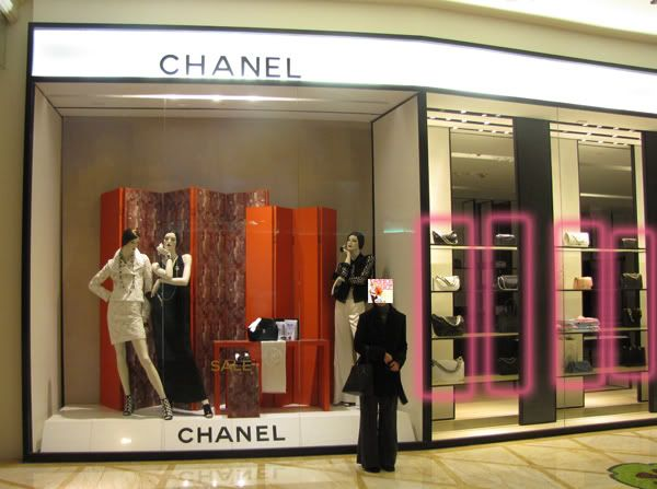 chanel outlet. chanel bag window shopping outlet