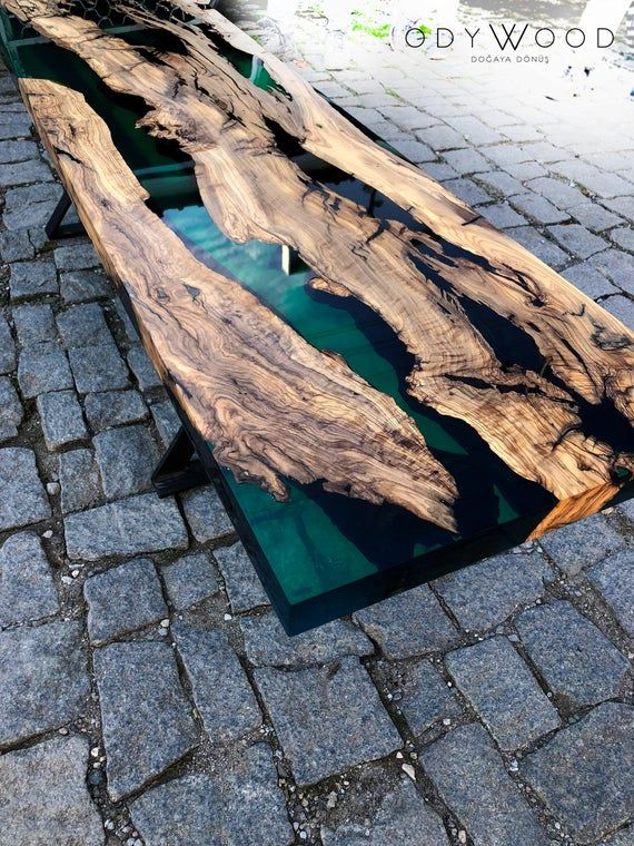 Meuble tv stonz r sine avec images resine epoxy bois Resine meuble