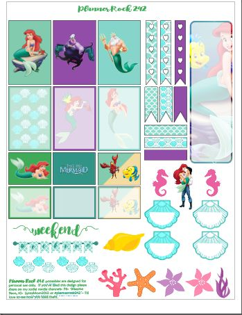 FREE The Little Mermaid Free Printable | happyplanning242.wordpress.com