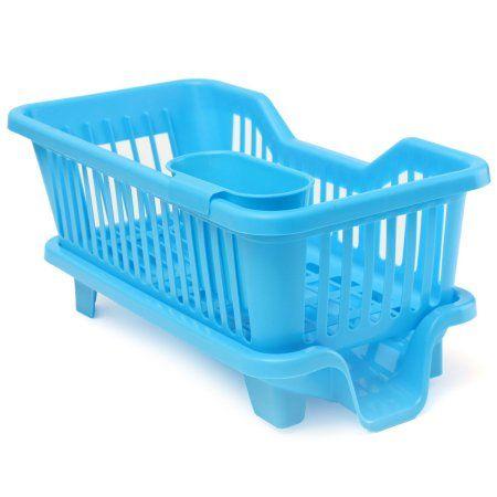 MOHOO Kitchen Dish Drainer Drying Rack Washing Holder Basket Organizer Tray,White color