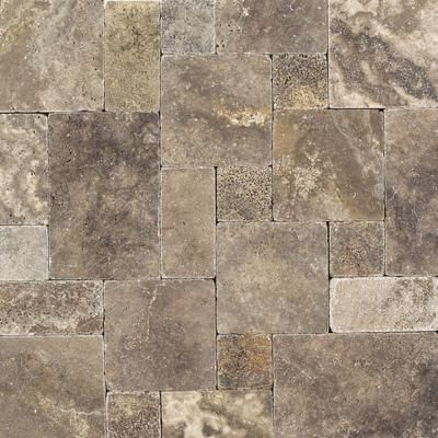 Daltile Travertine Andes Gray Paredon Pattern Floor And