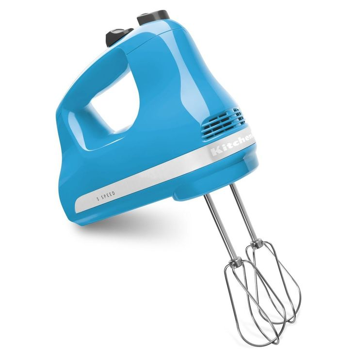 Kitchen aid ultra power 5speed hand mixers crystal blue
