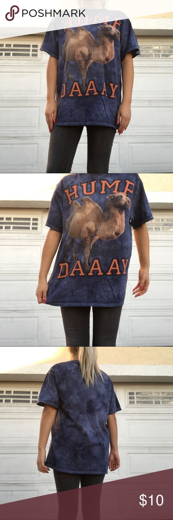 Hump day camel tie dye graphic tee HUMP DAAAY camel tie dye shirt 😍 men's size large Shirts Tees - Short Sleeve