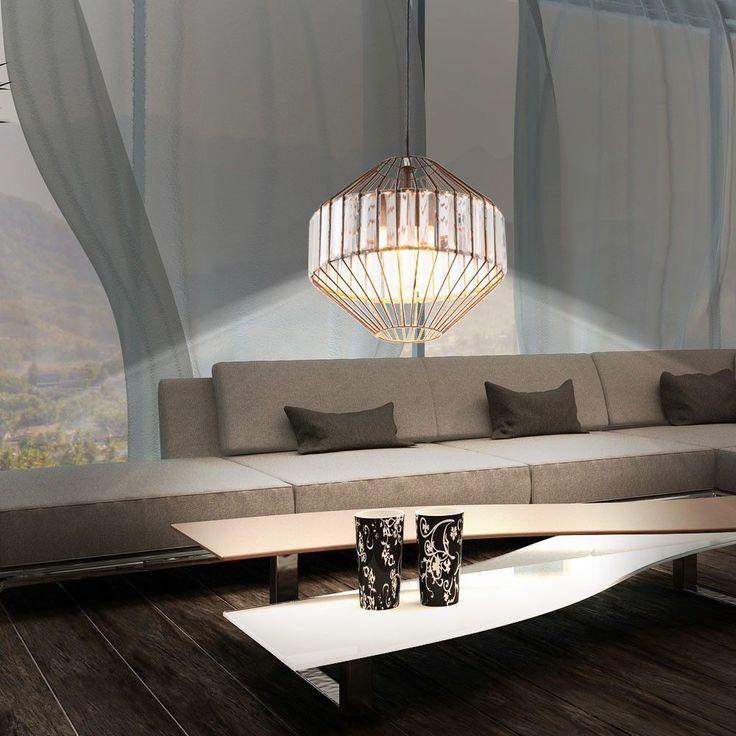 Details Zu Retro Vintage Decken Hange Pendel Lampe Metall Kafig Glas Rostfarben Wohn Zimmer