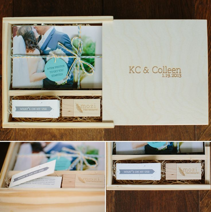 the wooden box, and wooden USB - such a creative idea!