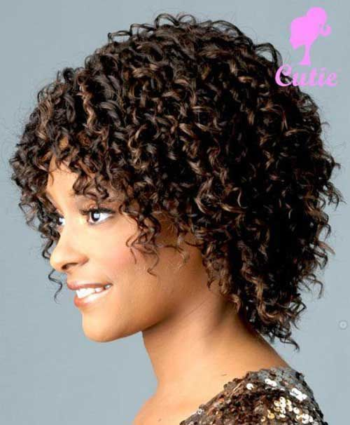 10.Naturally Curly Short Hairstyle