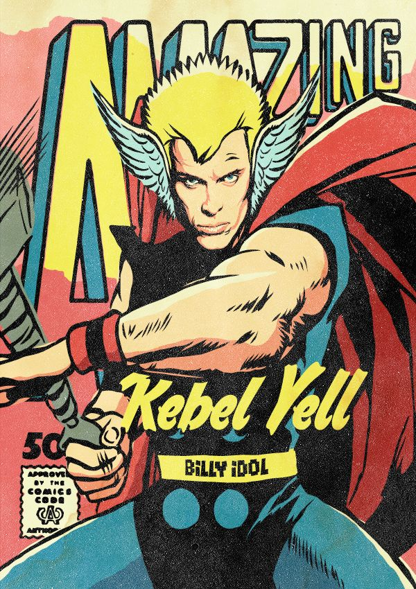 Post-Punk Icons Reimagined As Marvel Heroes by Butcher Billy - Billy Idol/Thor