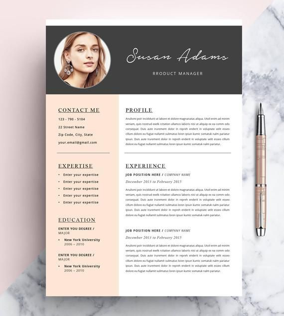 Creative Resume Template Cv Template Instant Download Editable In Ms Word And Pages Cover Letter Size A4 And Us Letter En 2021 Hojas De Vida Creativas Curriculum Vitae Creativos Disenos