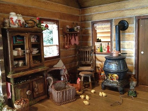 17 Best Images About Miniature Log Cabin Furniture On