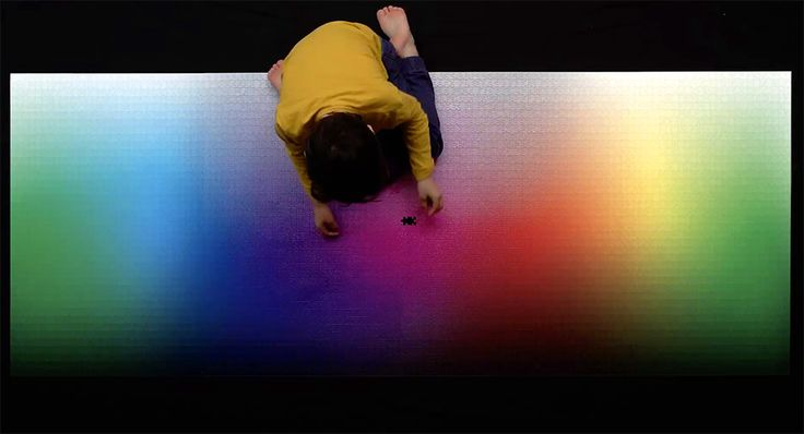 A Giant New 5,000-piece CMYK Color Gamut Jigsaw Puzzle by Clemens Habicht | Colossal