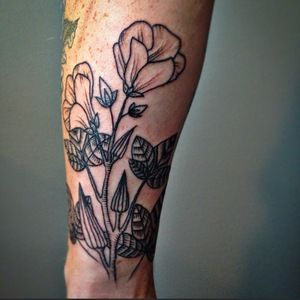 Okra flowers tattoo by kerry burke heart of gold body for Heart of gold tattoo