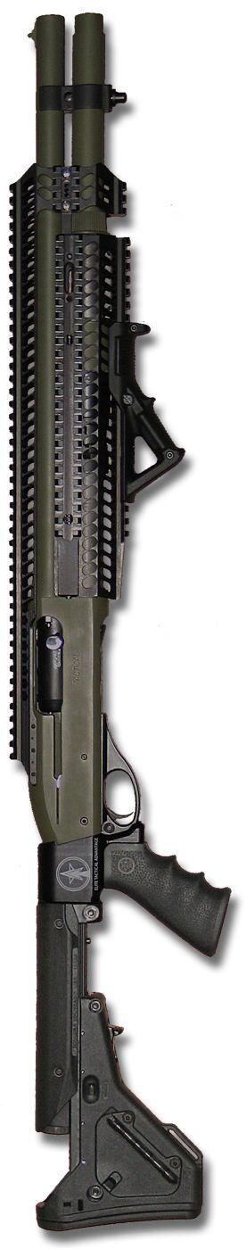 The Remington 1100 devastator Find our speedloader now!  http://www.amazon.com/shops/raeindLoading that magazine is a pain! Get your Magazine speedloader today! http://www.amazon.com/shops/raeind