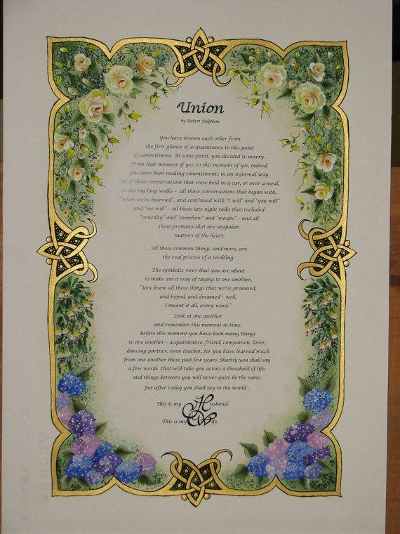 Enluminés calligraphie faite à ordre - Commission échantillon - Floral frontière (2013)