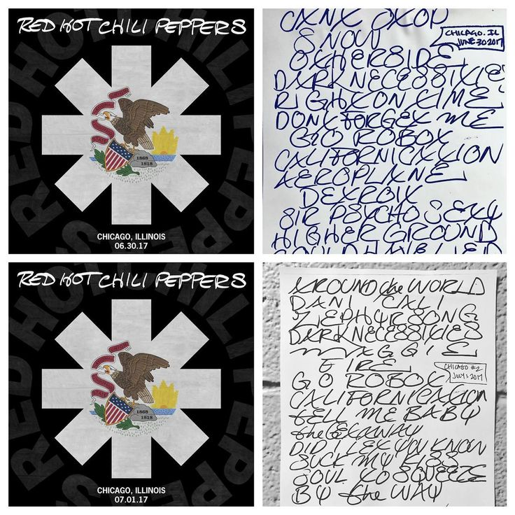 Get the live downloads from the two Chicago shows at LiveChiliPeppers.com!