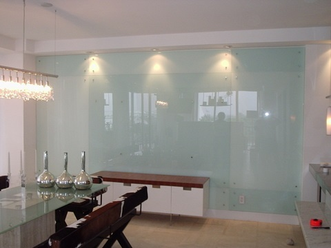 Back Painted Kitchen Wall - Dining Room